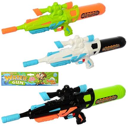 Дитячий водяний пістолет-бластер Water Gun MR0251 з помпою, Іграшкова зброя автомат з балоном HOT в пакеті, фото 2