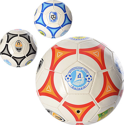 Мяч футбольный EV 3164 размер 5  ПВХ 1.6мм  2слоя 32панели 300-320г, фото 2
