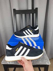 Черные Adidas Iniki Runner кроссовки мужские. Обувь черно-белая Адидас Иники для мужчин весна лето 2021
