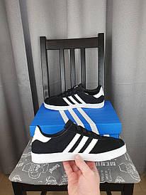 Кеды Adidas Gazelle черные с белым для девушек. Женские кроссовки Адидас Газель черно-белые замшевые 2021
