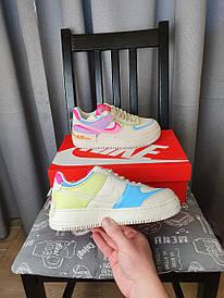 Nike Air Force 1 Shadow Double Swoosh разноцветные кроссы женские. Кроссовки Найк Аир Форсе белые с фиолетовым