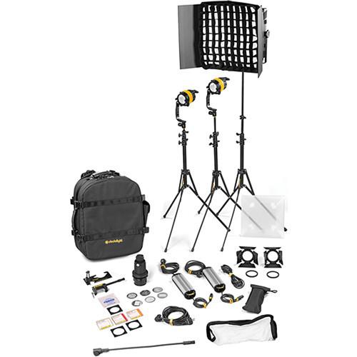 Dedolight DLED4.1/Felloni 2x1 Bi-Color 3-Light Standard Kit (Mains Operation) (BLED2X1-BI-S)