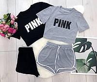 Жіночий літній спортивний одяг футболка+шорти,женский спортивный костюм на лето S M