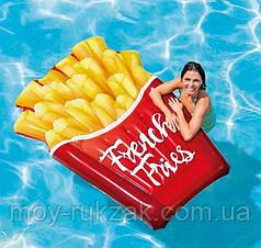 Пляжный надувной матрас  «Картошка Фри», Intex 58775, 175*132 см