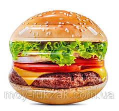 Пляжный надувной матрас  «Гамбургер», Intex 58780, 145*142 см