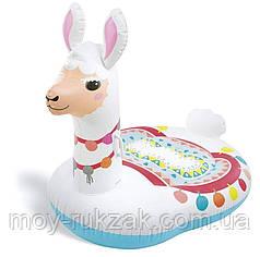 Детский надувной плотик для катания «Лама» Intex 57564, 135*94*112 см