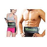 Массажный пояс для похудения Vibroaction Виброэкшн Вибромассажер для коррекции пресса талии ягодиц бёдер, фото 6