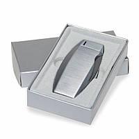 Зажигалка-пьезо металлическая в подарочной упаковке