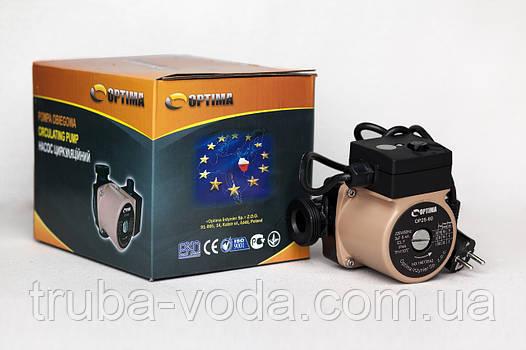 Циркуляционный насос OPTIMA 25-60/130 (Польша) +гайки+кабель