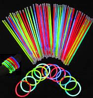 Светящийся браслет, неоновый браслет, light stick, glow stick, фото 1