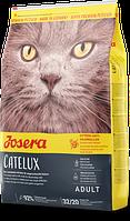 Josera (Йозера) Catelux - полноценный сухой корм для кошек, выведение шерсти из желудка (утка)