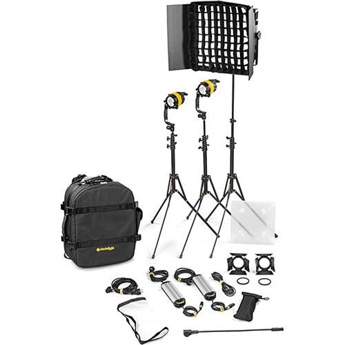 Dedolight DLED4.1/Felloni 2x1 Bi-Color 3-Light Basic Kit (Mains Operation) (BLED2X1-BI-B)