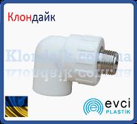 Колено с НР 25 х3/4 PPR Evci