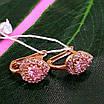 Детские золотые серьги Сердечки -  Золотые серьги для девочки в форме сердца, фото 4