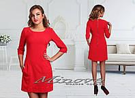 Красивое стильное платье красное. Арт-3874/33.