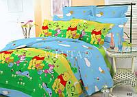Детский полуторный постельный комплект белья Винни Пух