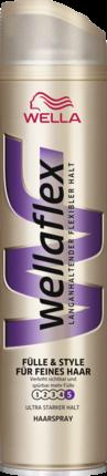 Лак для волос Богатство и стиль для тонких волос  Wellaflex Haarspray Fülle & Style 250 мл