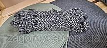 Шнур плетений 5 мм з сердечником Антрацит+айворі