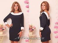 Красивое стильное платье с круглым воротом. Арт-3876/33.