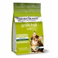 Arden Grange Kitten chicken/potato Беззерновой корм для котят со свежей курицей и картофелем 2 кг