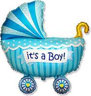 Фольгированный шар Коляска для мальчика 89х74 см Flexmetаl