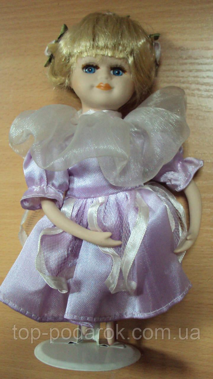 Кукла фарфоровая декоративная высота 21 см