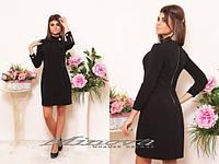 Красивое стильное платье ворот и манжеты на пуговицах. Арт-3878/33.