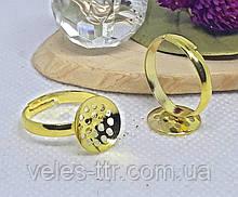 Основа для кільця Ситечко кругла Золото 12 мм