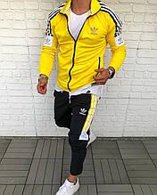 Мужской Спортивный Костюм в стиле Adidas Желтый adidas yellow