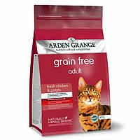 Arden Grange Adult chicken/potato Беззерновой корм для кошек со свежей курицей и картофелем 0.4 кг