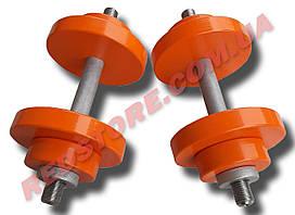Гантели наборные 2 по 16 кг металлические с полимерным покрытием (общий вес 32 кг) разборные