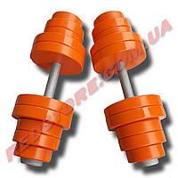 Гантели наборные 2 по 38 кг металлические с полимерным покрытием (общий вес 76 кг) разборные