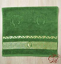 """Рушник махровий для обличчя та рук Parisa Home """"Греція"""" (зелене) 50х100см."""