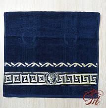 """Рушник махровий для обличчя та рук Parisa Home """"Греція"""" (синє) 50х100см."""