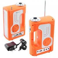 Фонарь с радио YAJIA 2889 SY, заряжает гаджеты через USB, аккумулятор 7000 мАч