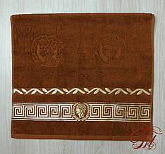 """Рушник махровий для обличчя та рук Parisa Home """"Греція"""" (коричневе) 50х100см."""