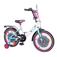 Детский велосипед Fancy 18, «Tilly» (T-218214), цвет White Pink Blue (белый с розовым и голубым)