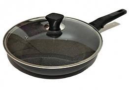 Сковорода с крышкой Benson BN-558 26 см с мраморным покрытием Black, КОД: 1924534