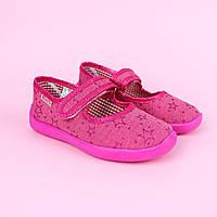 Тапочки в садик на девочку, текстильная обувь Vitaliya Украина размер 29,31,31.5