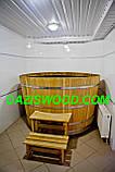 Купель круглая для бани и сауны 200х120см., фото 2