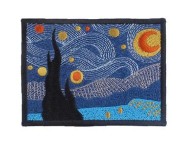 Нашивка апликация наклейка художник Винсент ван Гог как картина звездная ночь