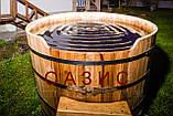 Купель круглая для бани и сауны 200х120см., фото 3