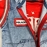 Комплект футболка, штаны, подтяжки, жилет красный concept Турция 86 (р), фото 3