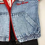Комплект футболка, штаны, подтяжки, жилет красный concept Турция 86 (р), фото 4