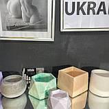Кашпо пустой, форма цилиндр  6/8см, емкость для свечей, кашпо для растений, гипсовый стакан, фото 6