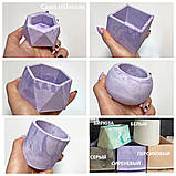 Кашпо пустой, форма цилиндр  6/8см, емкость для свечей, кашпо для растений, гипсовый стакан, фото 8