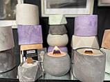 Кашпо пустой, форма цилиндр  6/8см, емкость для свечей, кашпо для растений, гипсовый стакан, фото 10