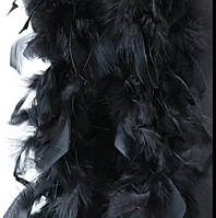 Боа из пера марабу 2м черный 38-40г