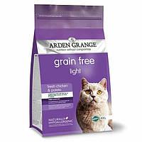 Arden Grange Light chicken/potato Беззерновой корм для кошек диетический со свежей курицей и картофелем 0.4 кг