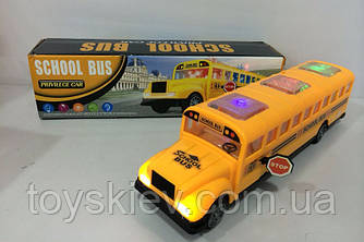 Муз. автобус  QC9855 (ZR526)  (72шт|2) батар,свет,звук,в коробке 29,2*8,1*7,4см